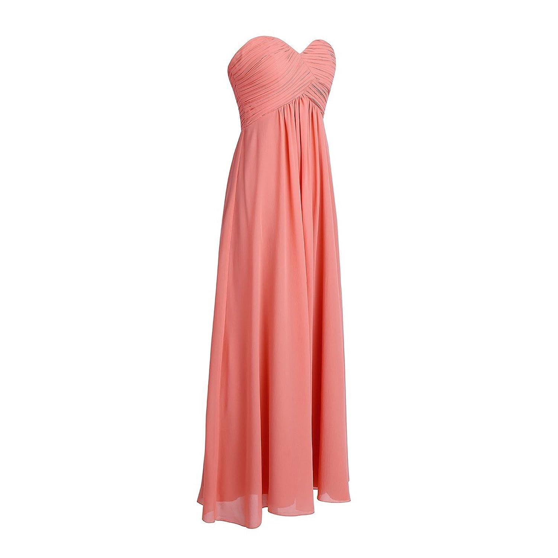 Tiaobug Damen Kleider elegant Abendkleid festlich Hochzeit ...