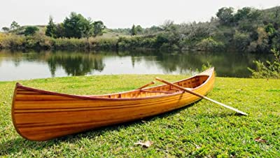 Old Modern Handicrafts Real Canoe with Ribs