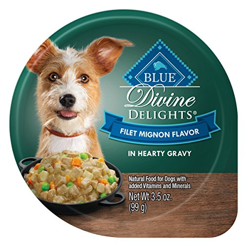 (Blue Buffalo Divine Delights Natural Adult Small Breed Wet Dog Food, Filet Mignon Flavor in Hearty Gravy 3.5-oz (Pack of 12))