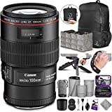 Canon EF 100mm f/2.8L is USM Macro Lens with Altura Photo Essential Accessory and Travel Bundle