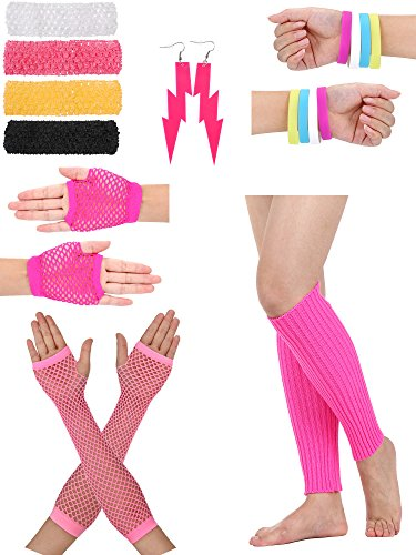 80s Accessory Set with Knitted Headbands - choice of colors