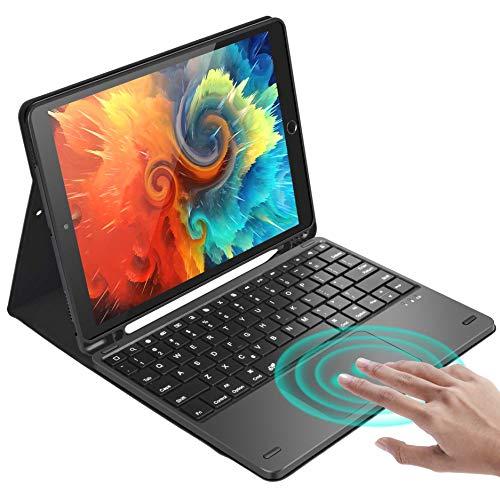 Keyboard Case for iPad 8th Gen (2020) / 7th Gen (2019) 10.2 Inch, iPad Keyboard Case with Touchpad, Bluetooth Wireless iPad Keyboard for iPad Air 3rd Gen/Pro 10.5