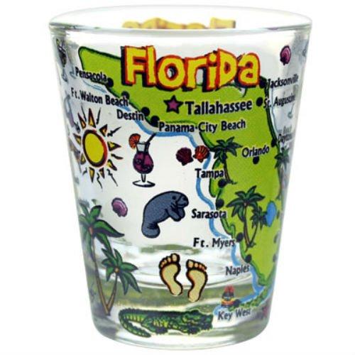 (Florida Map Pop Art Shot Glass agc)