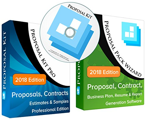 Proposal Kit Professional - Business Proposals, Plans, Legal Contracts, Samples and Software V20.1