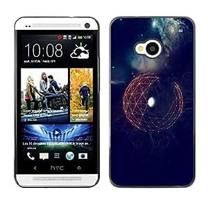 Be Good Phone Accessory // Dura Cáscara cubierta Protectora Caso Carcasa Funda de Protección para HTC One M7 // Space Sci-Fi Earth Futuristic Minimalistic