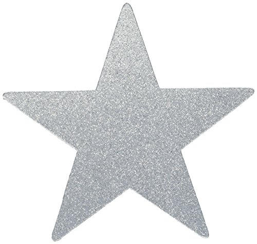 Amscan Star Cutouts | Silver | Party Decor | 40 Ct. ()