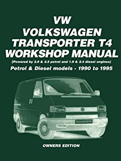 vw transporter t4 workshop manual owners edition petrol models rh amazon co uk VW Microbus VW Caravelle 9 Seater