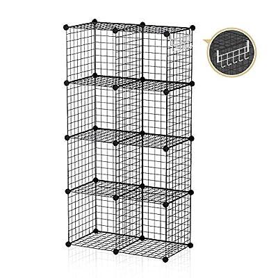 GEORGE&DANIS Wire Storage Cubes, Black