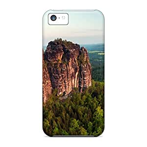 Premium Amazing Rock Cliffs In A Forest Heavy-duty Protection Cases For Iphone 5c