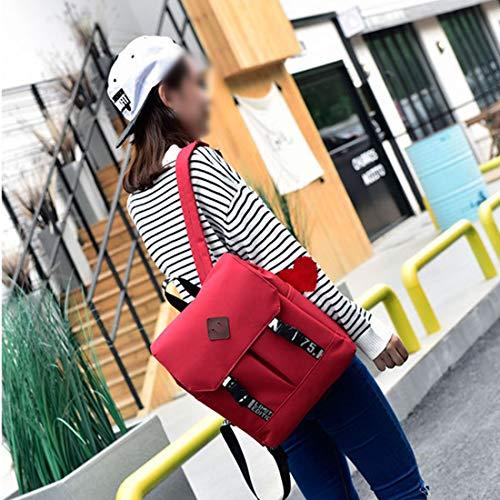 Unisex Llanura Ligero Universidad adulto Blue color Bolsa Gran Mochila Red Capacidad Escuela Bolso Weatly white Popularidad Señoras Pqpgp