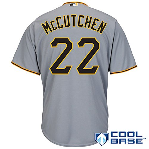 quality design cdb30 2ee7b Andrew McCutchen Pittsburgh Pirates Gray Youth Cool Base ...