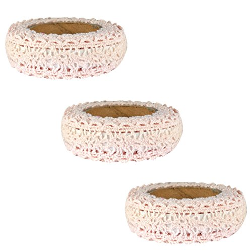 - Wrapables Decorative Lace Tape, 200cm by 15mm, Beige