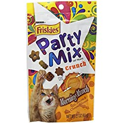 Purina Friskies Party Mix Morning Munch Cat Treats - (10) 2.1 Oz. Pouches
