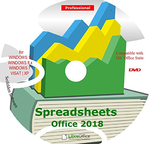 Spreadsheet Excel Office Suite 2018 Works Home Student and Business for Windows 10 8.1 8 7 Vista XP 32 64bit| Alternative to MicrosoftTM Office 2016 2013 2010 365 Compatible Word Excel PowerPoint