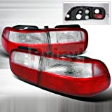 94 honda civic clear taillights - Spec-D Tuning LT-CV92RPW-DP Red/Clear Tail Light
