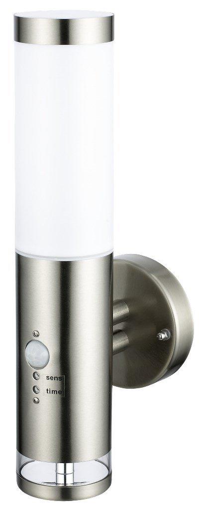 Edelstahl LED Außenwandleuchte - Wandleuchte Lisa 2 mit Hauptlicht und Grundlicht und Bewegungsmelder, Außenlampe Außenleuchte [Energieklasse A+] Dapo Leuchten