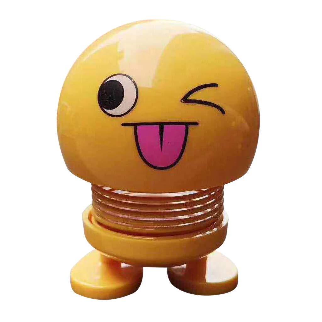 8,6 cm Dekoration Schlag Spielzeug Leucht Kopf Autopuppe Auto-Reizende Kleine Innenraum Passt A YSFWL Smiley Puppe Auto Ornament Mode Interieur Gr/ö/ße 8,2 7