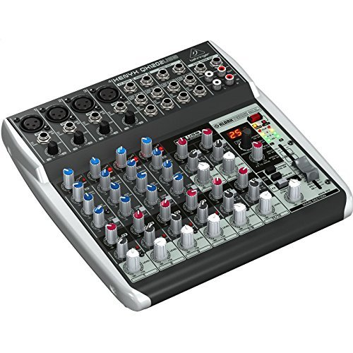 BEHRINGER, QX1202USB Premium 12-Input 2-Bus Mixer with Xenyx Mic Preamps & Compressors British EQs Black