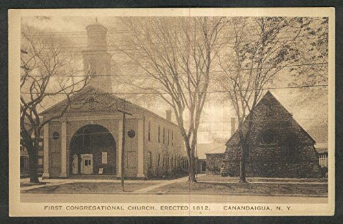 First Congregational Church Canandaigua NY postcard 1910s ()