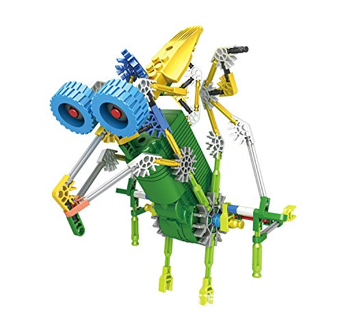 LOZUSA B/O Robot 119 PCS Motorial Alien Robot Educational STEM Robotic Building Set Block Toy, Battery Operated Motor, 3D Puzzle Design Alien Primate Robot Figure for kids and adults