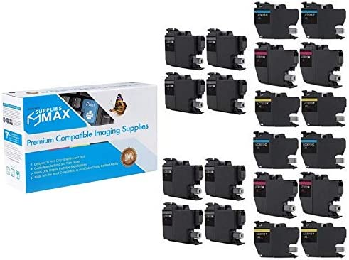 SuppliesMAX Compatible Replacement for Brother DCP-J572//J772//J774//MFC-J491//J497//J690//J890//J895DW High Yield Inkjet Combo Pack 8-BK//4-C//M//Y LC-3013XL-8BK4CMY