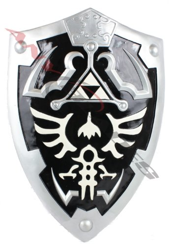 Dark Link Hylian Zelda Shield Full Size with Grip and -