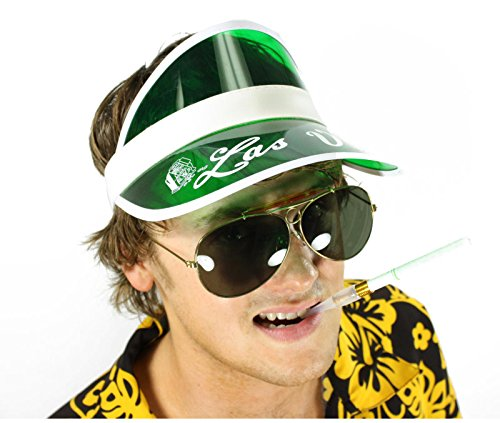 [Raoul Duke Hunter S Thompson Fear & Loathing in Las Vegas Costume Kit (Smoke Lenses)] (Gonzo Adult Costumes)