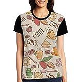 CKS DA WUQ Coffee Love Women's Raglan T-Shirt Round Neck Sport Baseball Tees Tops Undershirts