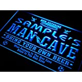 qd-tm Name Personalised Custom Man Cave Soccer Bar Beer Neon Sign