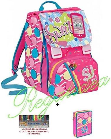 Mochila sdoppiabile SJ GIRL Flip System + Estuche 2 pisos Pieno + 30 bolígrafos Gel de regalo: Amazon.es: Deportes y aire libre