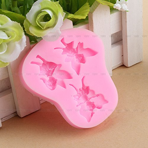 3D Fairy Elf Angel Figure Silicone Fondant Mould Cake Decorating Chocolate Mold - 1