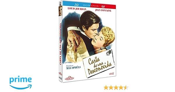 Carta de una desconocida [Blu-ray]: Amazon.es: Joan Fontaine ...