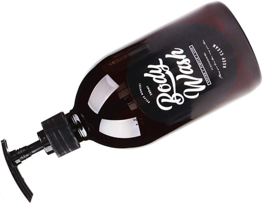 Dayertiy 500 ml Body Wash dispensador vacío a Prueba de Agua de la Botella de Almacenamiento de Botellas de plástico de la Bomba Tarro de contenedores