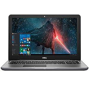 """Dell Inspiron 15.6"""" LED-Backlit Display Laptop PC Intel i5-7200U Processor 8GB DDR4 RAM 256GB SSD DVD-RW Backlit-keyboard HDMI 802.11ac Webcam Bluetooth Windows 10-Gray"""