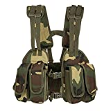 Docooler Tactical Chest Rig Adjustable Padded Modular Military Vest Mag Pouch