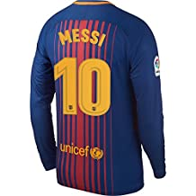 Barcelona Home L/S Messi Jersey 2017 / 2018 (Official Printing)