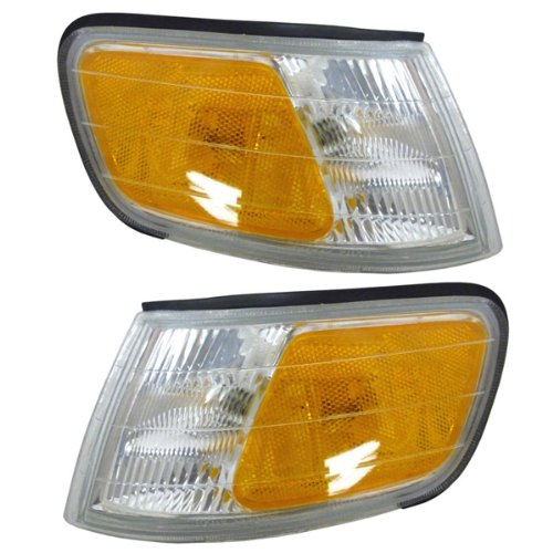 1994-1995-1996-1997 Honda Accord Corner Park Light Turn Signal Marker Lamp Pair Set Right Passenger And Left Driver Side (94 95 96 97) (Driver Front Turn Signal Light)