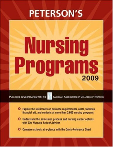 Nursing Programs - 2009 (Peterson's Nursing Programs)