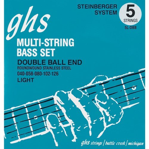 GHS 5l-DBB Double Ball End Roundwound Light Electric Bass Strings - 5-String