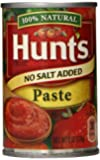 Hunt's Tomato Paste, No Salt Added, 6 Ounce (Pack of 12)