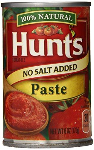 Hunt's Tomato Paste No Salt Added, 6 Oz., Pack of 12