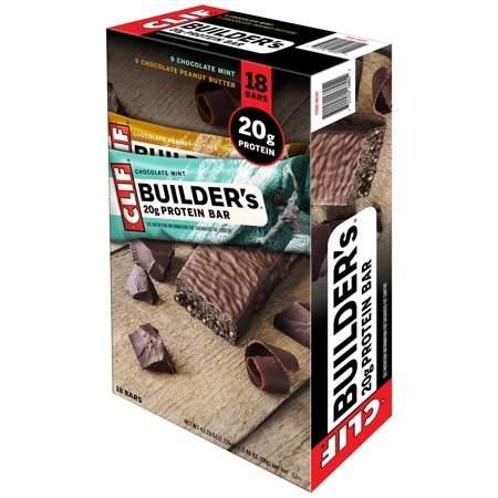 Clif Builders Protein Bar Variety Pack 18 Bars, 43.20 ()