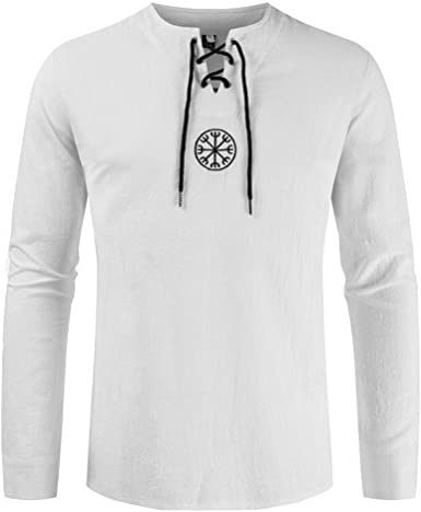 KJHSDNN Camiseta Hombre Sudaderas sin Capucha con Mangas Largas Tops Casual con Cordones Moda Slim Fit: Amazon.es: Ropa y accesorios