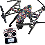 MightySkins Protective Vinyl Skin Decal for Yuneec Q500 & Q500+ Quadcopter Drone wrap cover sticker skins Bold Tile