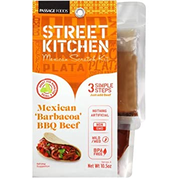 Street Kitchen Mexican Barbacoa BBQ Beef Mexican Scratch Kit, ...