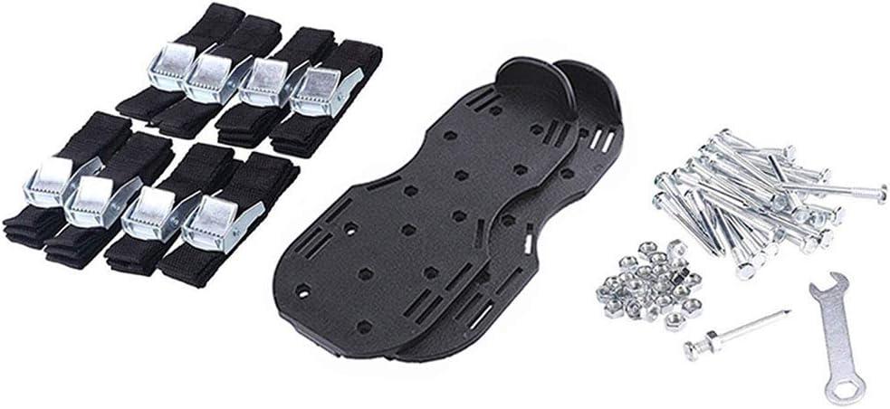 Zapatos De Uñas Profesional De Suelas De Uñas Aireador De Césped Para Jardín Escarificador Para Escarificador De Mano De Jardín Hecho Para La Preparación De Semillas Y Aflojamiento Del Suelo,Negro
