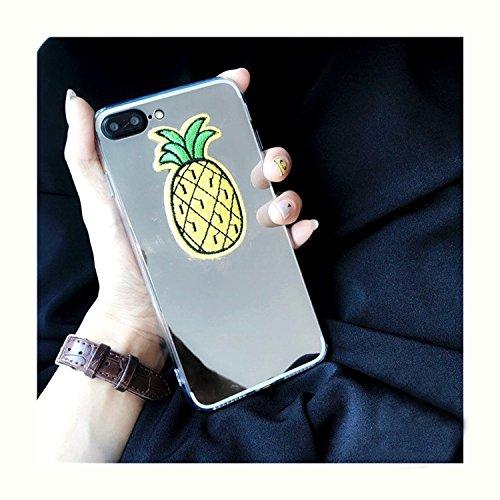 Hülle für iPhone 7 plus , Schutzhülle Für iPhone 7 Plus Spiegel Stickerei Ananas Muster Schutzmaßnahmen zurück Fall Fall ,hülle für iPhone 7 plus , case for iphone 7 plus
