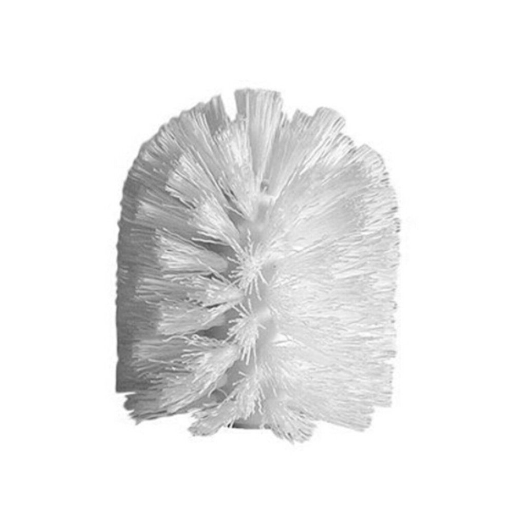 Meolin Toilet Brush Head for Replacement Replacement Toilet Bowl Brush Head, Screws On Design - for Bathroom Storage - Sturdy Stiff Bristles, Deep Cleaning,White,Plastic