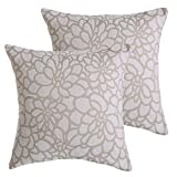 Cheap ALBAD Throw Pillow Cover 20 x 20 Inch Sets of 2 Off White Decorative Square Pillow Covers 100% Cotton Decorative Square Cushion Case Sofa Durable Modern Stylish
