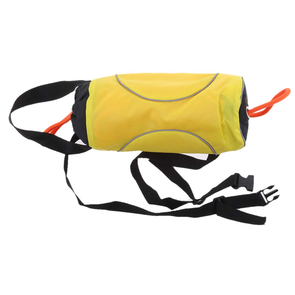 Flameer Yellow 72ft Safety Water Reflective Rescue Throw Bag Floating Rope Line Kit